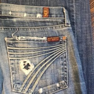 7 For All Mankind Jeans - 7FAM DOJO jeans - Heavily distressed!